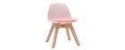 Chaise enfant rose avec pieds bois BABY PAULINE