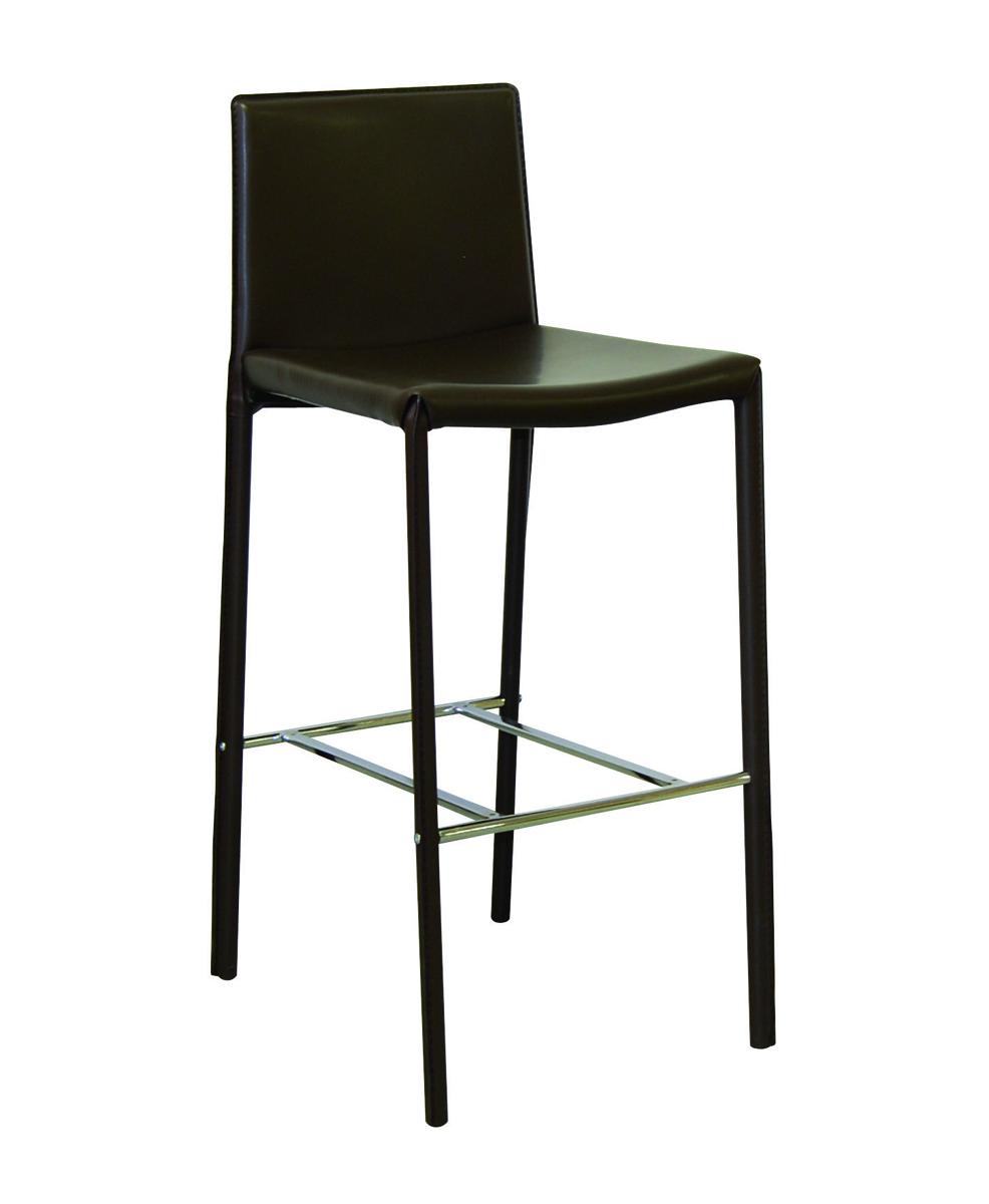 Chaise haute de bar chocolat genna lot de 4 miliboo - Chaise haute pour bar ...