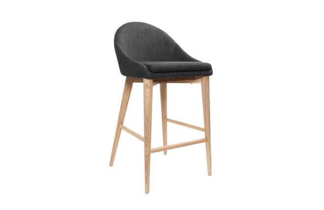 chaise haute design bois polyester gris anthracite shana miliboo. Black Bedroom Furniture Sets. Home Design Ideas