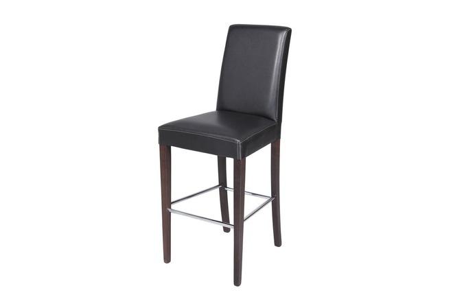 chaise haute noire pieds weng meteore miliboo. Black Bedroom Furniture Sets. Home Design Ideas