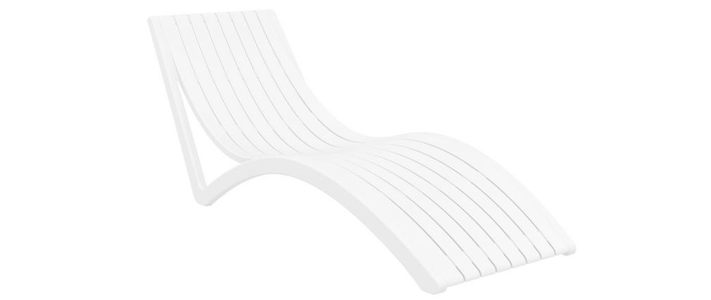 Chaise longue design blanche SLIDO