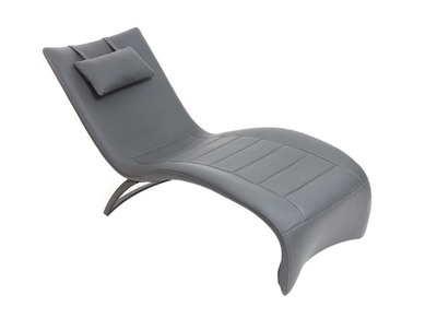 Chaise longue design gris PENSY