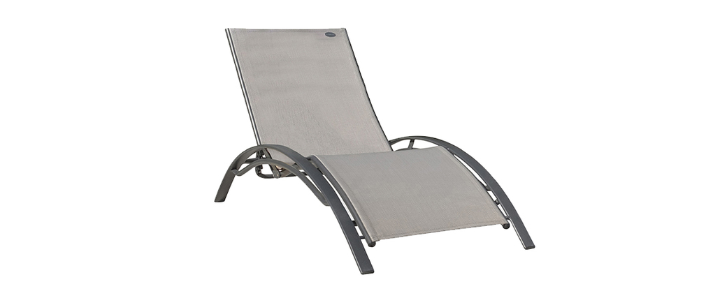 Chaise longue design grise SIERRA