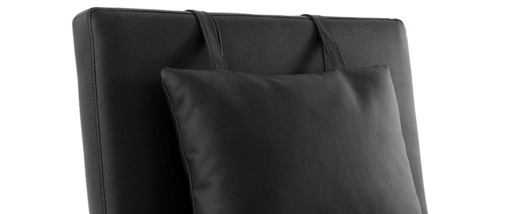 Chaise longue design noir MONACO
