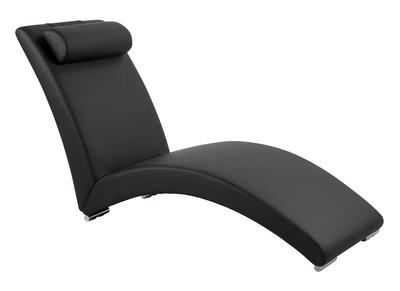 Chaise longue design noire HAMPTON