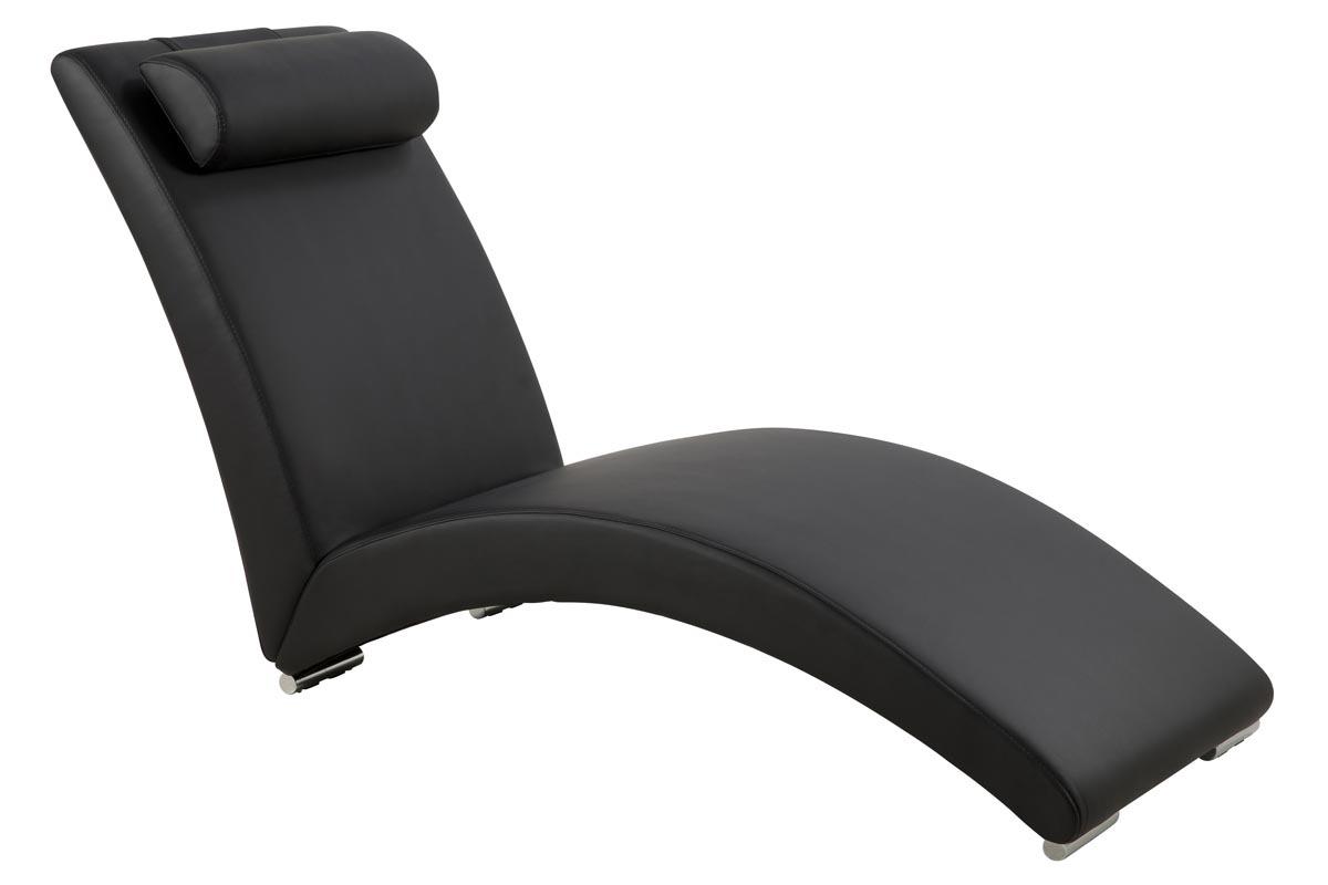 Chaises longues soldes conceptions de maison for Chaise longue noire