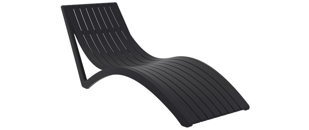 Chaise longue design noire SLIDO