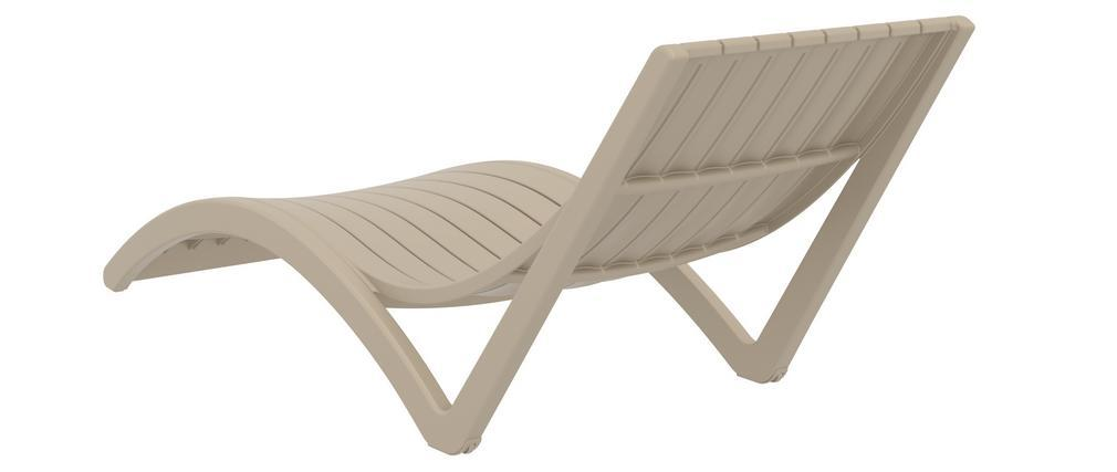 Chaise longue design taupe SLIDO