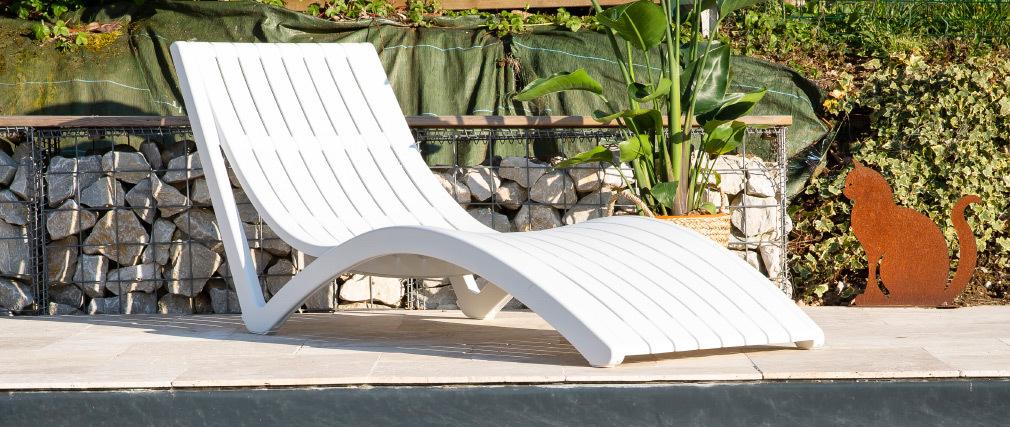 Chaise longue design taupe SLIDO