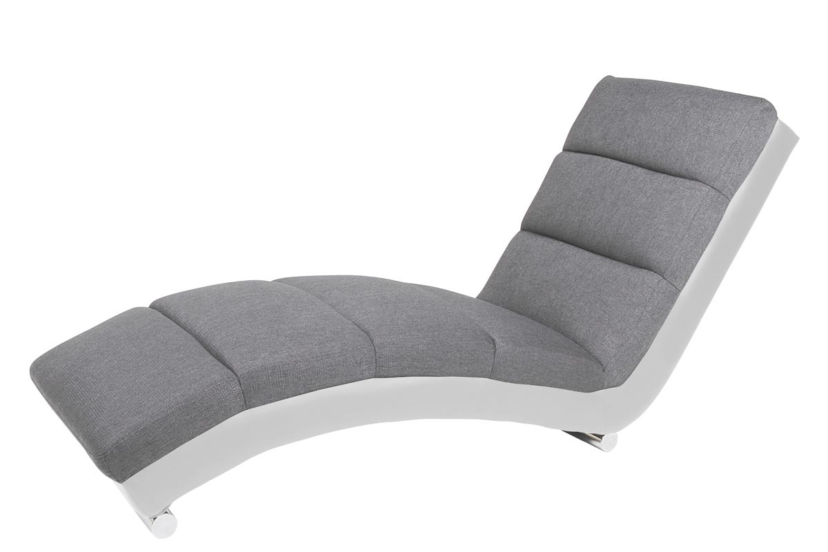 Fauteuil de bureau blanc but for Chaise design gris et blanc