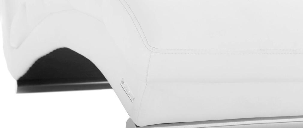 Chaise Longue Fauteuil Taylor Miliboo Design Blanc vmwNn80