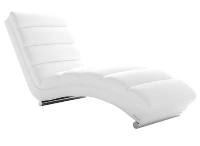 Chaise longue / fauteuil design blanc TAYLOR