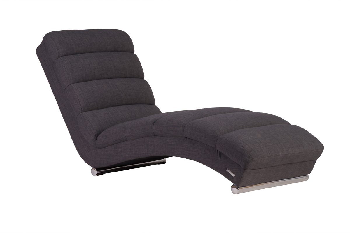 chaise longue fauteuil design gris taylor soldes. Black Bedroom Furniture Sets. Home Design Ideas