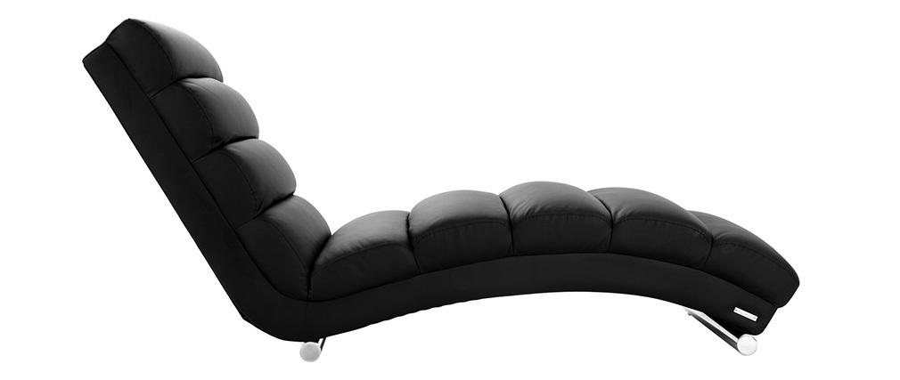 chaise longue fauteuil design noir taylor miliboo. Black Bedroom Furniture Sets. Home Design Ideas