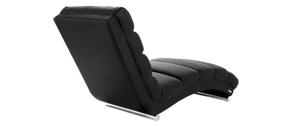 Chaise longue / fauteuil design noir TAYLOR