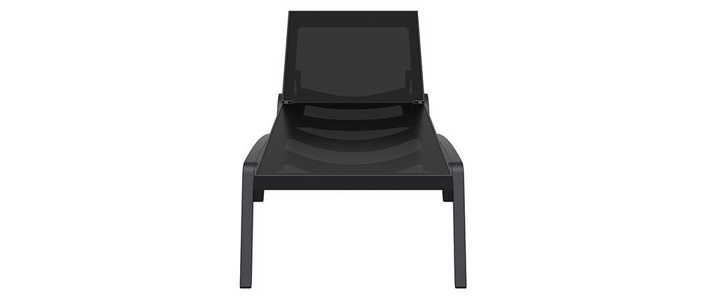 Chaise longue noir et anthracite CORAIL