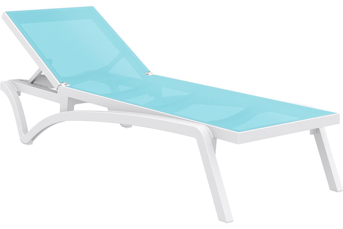 chaise longue turquoie et blanc corail miliboo. Black Bedroom Furniture Sets. Home Design Ideas