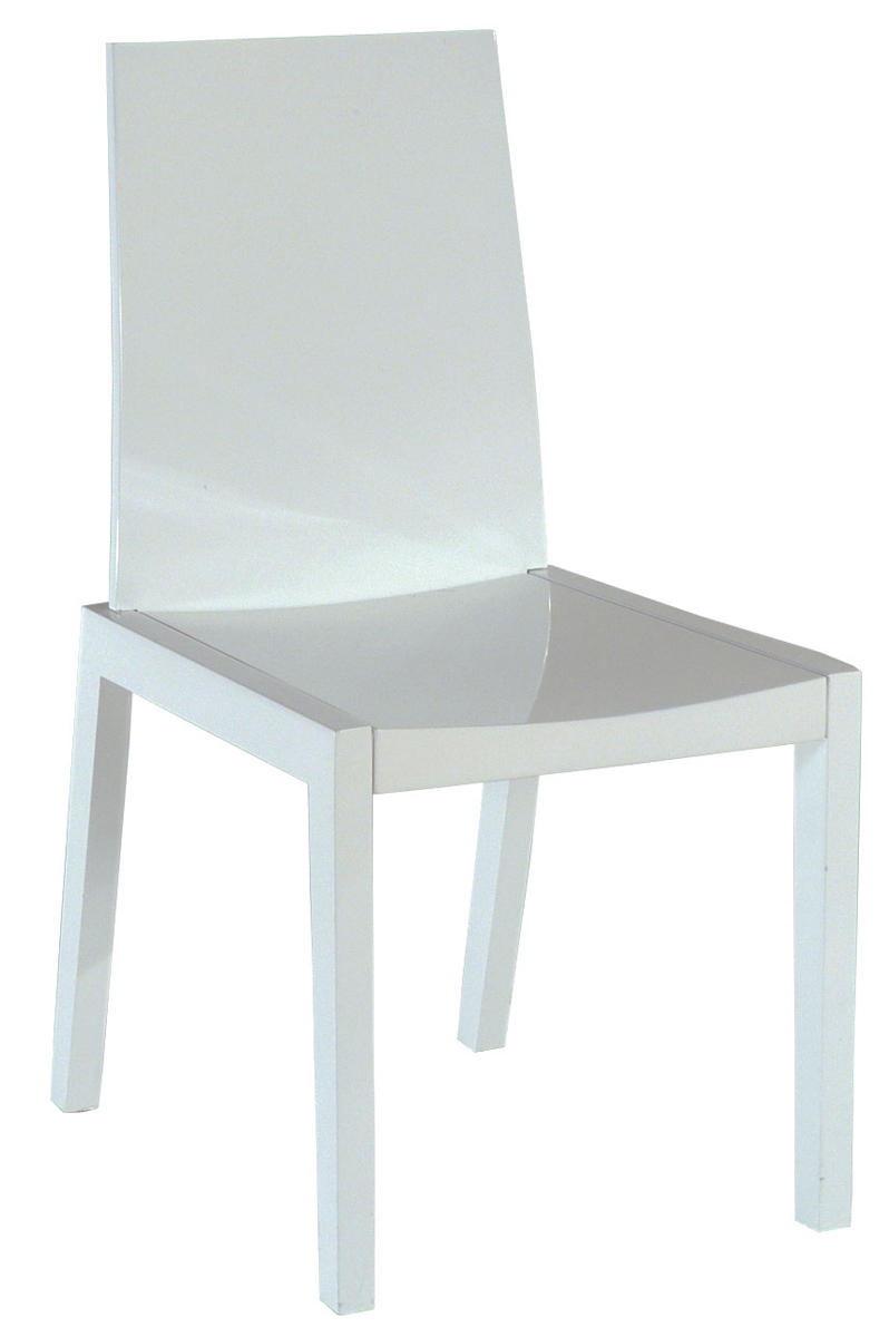 Chaise moderne blanche new york miliboo - Chaise moderne blanche ...