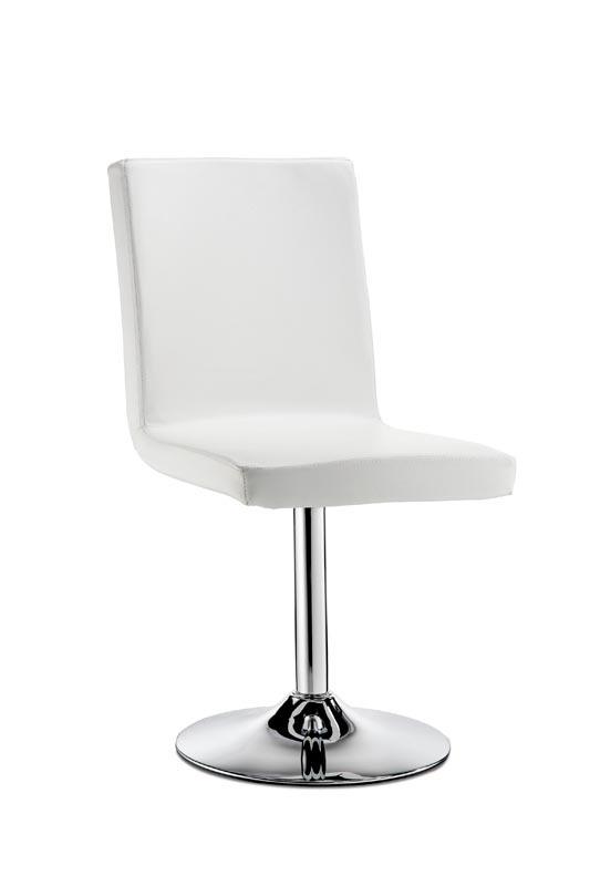 chaise pivotante design blanche draw miliboo. Black Bedroom Furniture Sets. Home Design Ideas