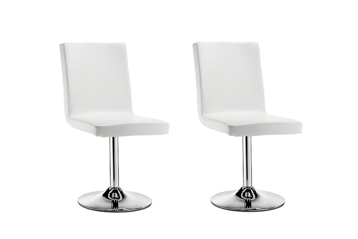 chaise pivotante design blanche lot de 2 draw miliboo. Black Bedroom Furniture Sets. Home Design Ideas