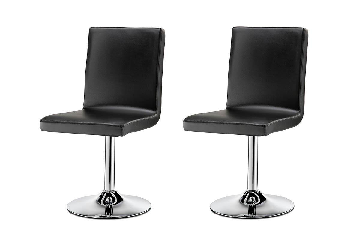 chaise pivotante design noire lot de 2 draw miliboo. Black Bedroom Furniture Sets. Home Design Ideas