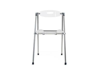 Chaise plexiglas pliante transparent JULIE (lot de 4)