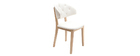 Chaise PU blanc SOFFY