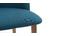 Chaise scandinave bleu canard et bois CELESTE