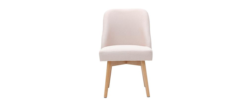 Chaise scandinave en tissu rose LIV - Miliboo & Stéphane Plaza