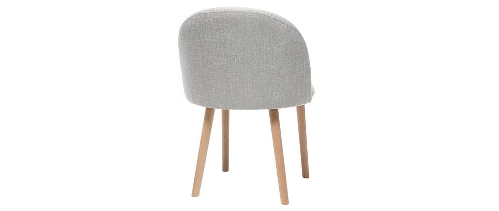 Chaise scandinave gris polaire et bois CELESTE