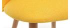 Chaise scandinave jaune et bois CELESTE