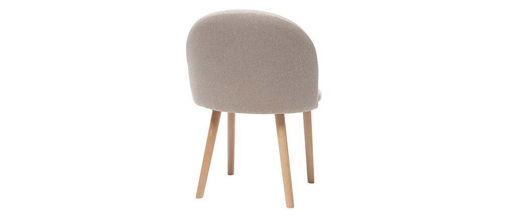 Chaise scandinave naturel et bois CELESTE