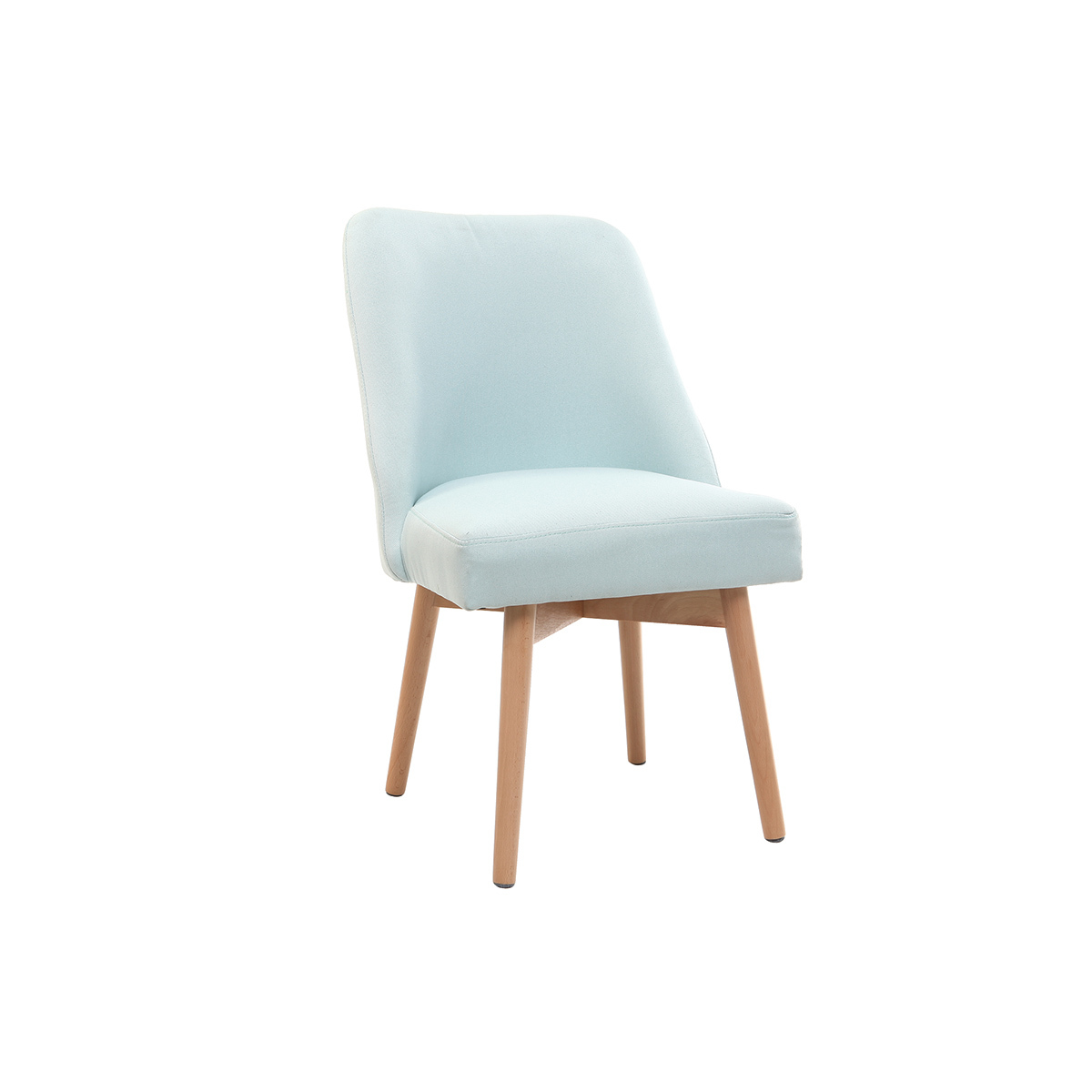 chaise scandinave tissu menthe - Lot 6 Chaises Scandinaves2126