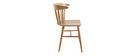 Chaises à barreaux finition chêne (lot de 2) DARIA