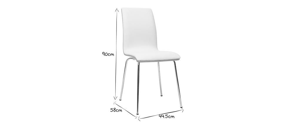 Chaises blanc et bois clair avec pieds métal (lot de 2) DELICACY
