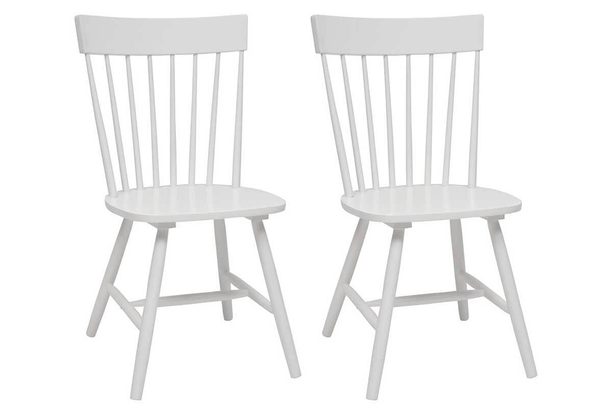 Chaises bois comparer les prix des chaises bois pour - Chaise blanche en bois ...