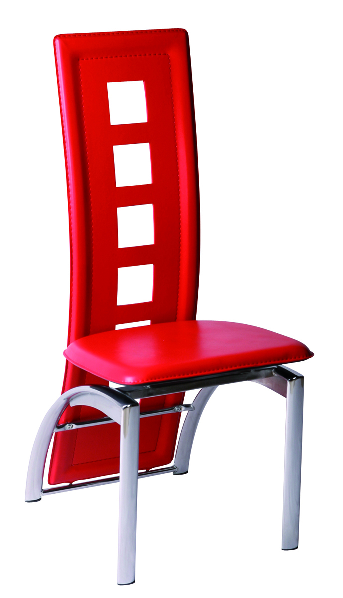 chaises de cuisine salle manger rouge moderne jackie lot de 4 miliboo. Black Bedroom Furniture Sets. Home Design Ideas