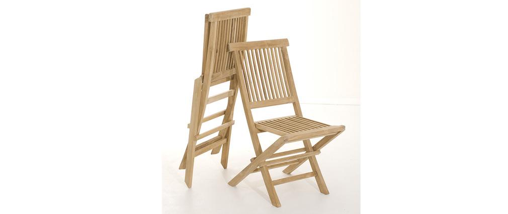 Chaises de jardin en teck lot de 2 BORNEO