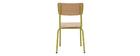 Chaises d'écoliers empilables en métal anis et bois clair (lot de 2) SCHOOL