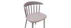 Chaises design à barreaux grises intérieur / extérieur (lot de 2) HOLLY