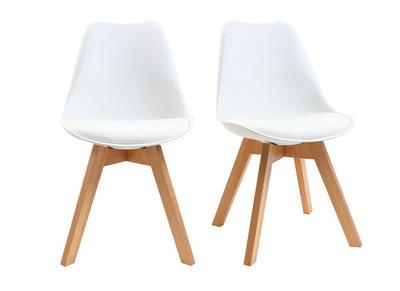 chaises salle a manger pvc pieds bois