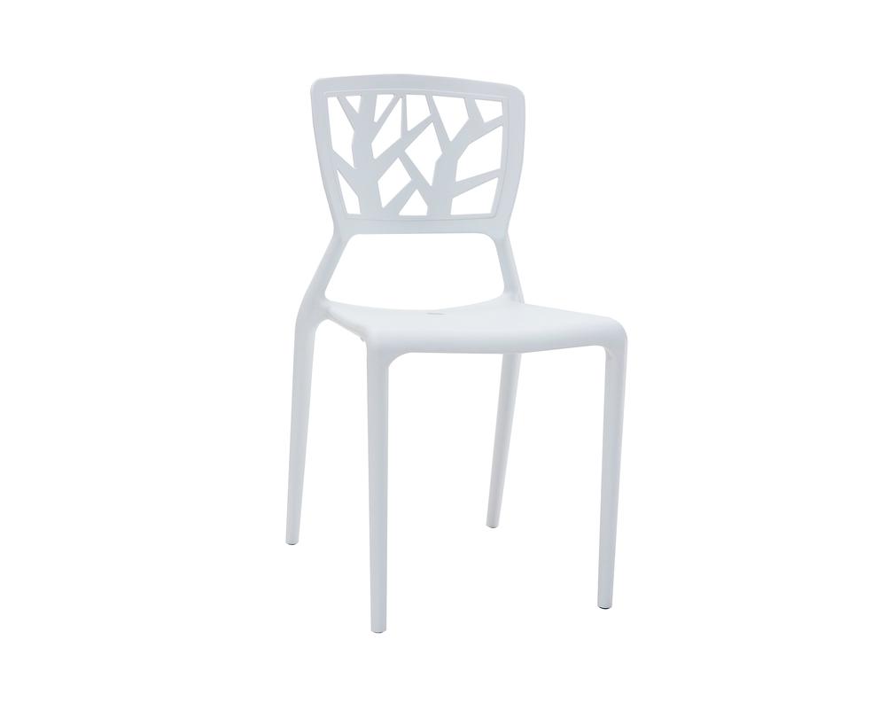 Chaises design blanches empilables intérieur extérieur