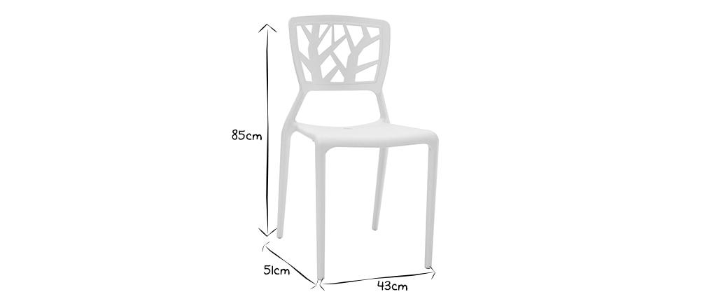Intérieur Extérieurlot Design Chaises 2 Empilables De Blanches LVGqzMpSU