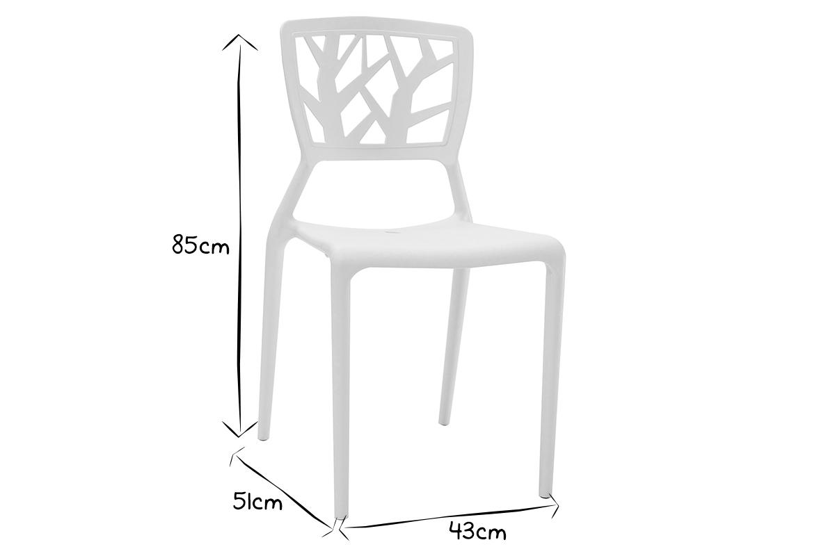 blanches Chaises intérieur empilables extérieur design 1KlcFJ