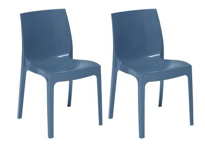 Chaises design bleues lot de 2 MAELI