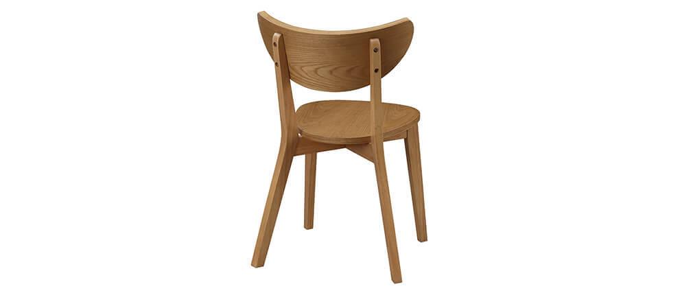 Chaises design chêne (lot de 2) LEENA