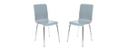 Chaises design cuisine grises (lot de 2) NELLY