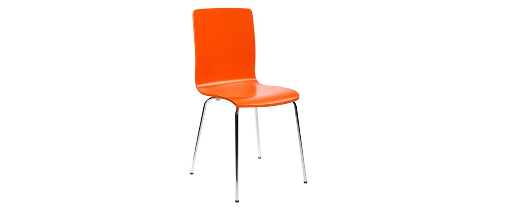 Chaises design cuisine orange (lot de 2) NELLY
