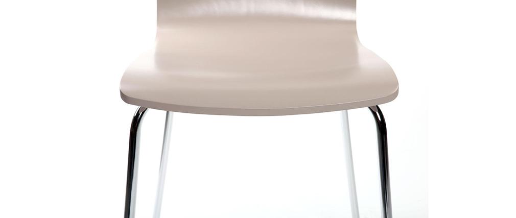 Chaises design cuisine taupe (lot de 2) NELLY