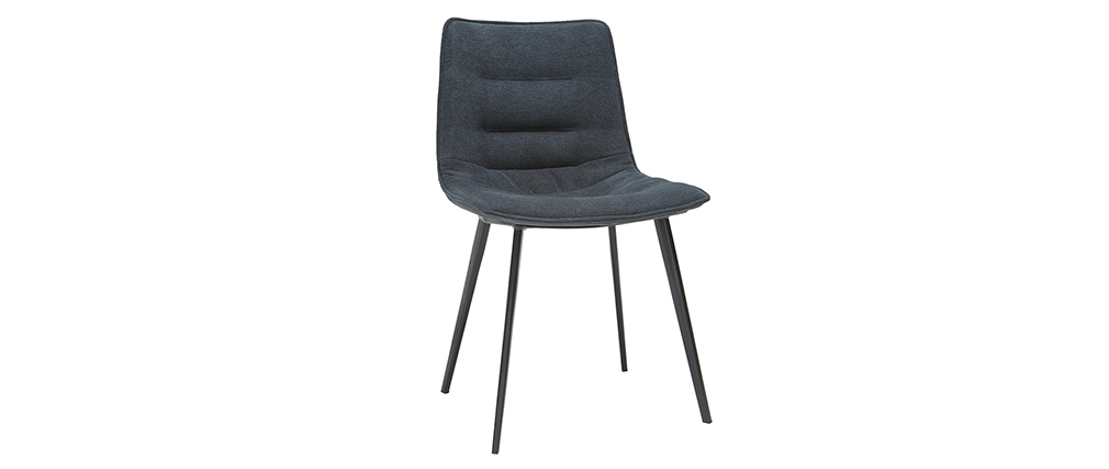 Chaises design effet velours gris foncé (lot de 2) PARKER
